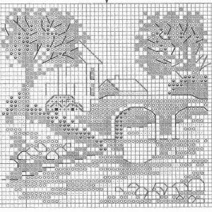 Схема вышивки История красной машинки 1 из 6