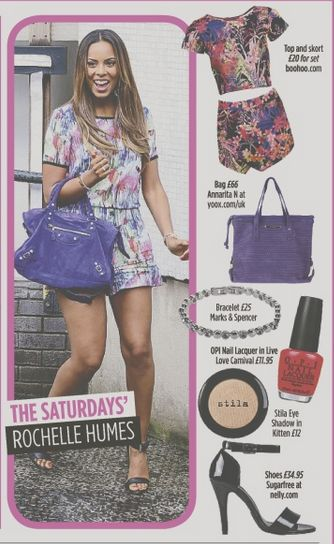 Rochelle Humes rocks her co-ord. Get this look at Boohoo.com, yoox.com, M&S, OPI, Stila and nelly.com