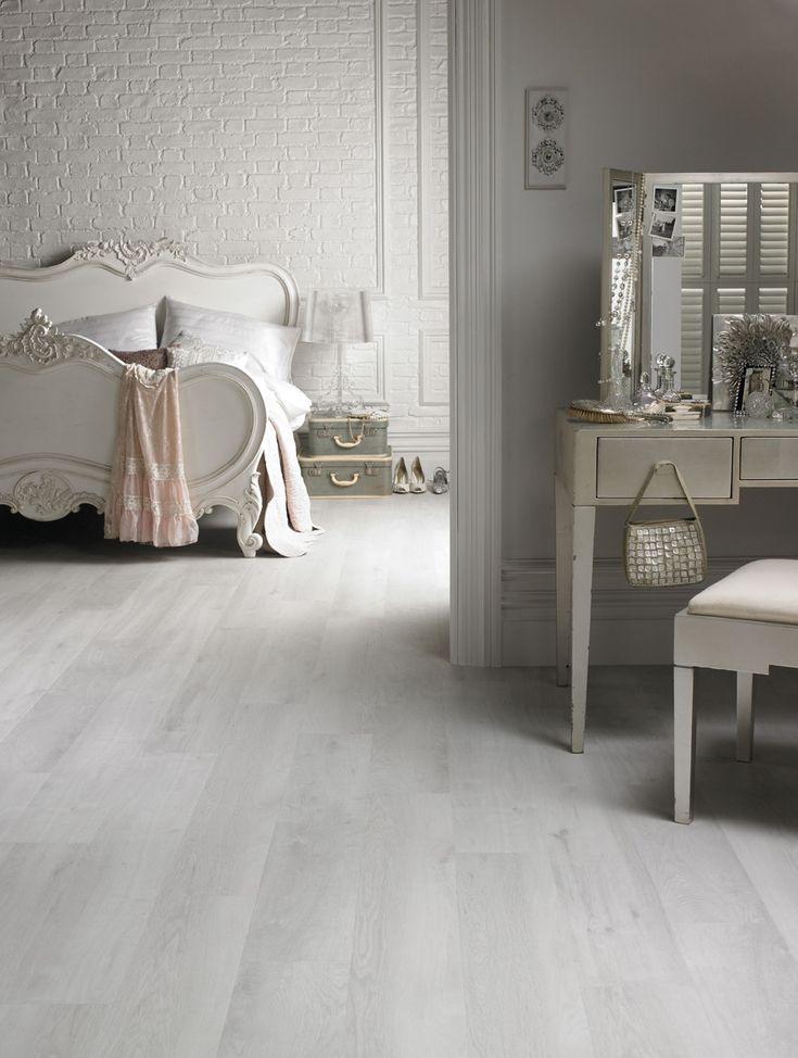 washed wood white floor