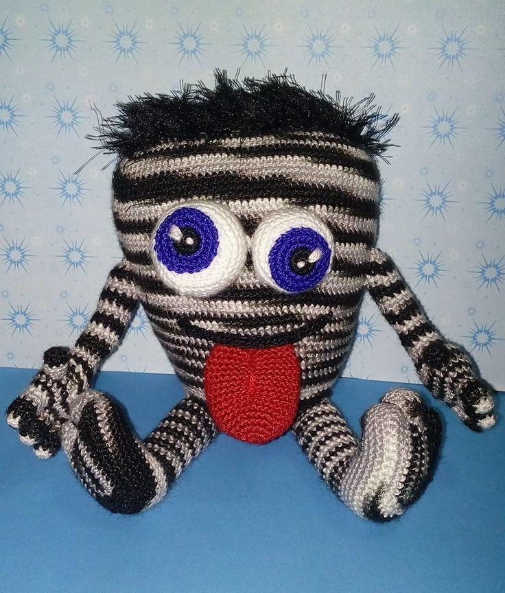 Amigurumi Monstruo loco matizado Amigurumi Crazy monster