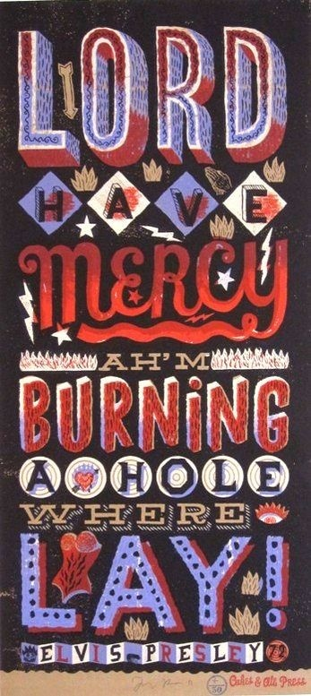 Lord Have Mercy, serigraph by Jonny Hannah www.castorandpollux.co.uk
