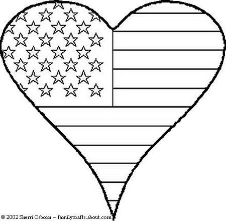 free veterans day clip art to color