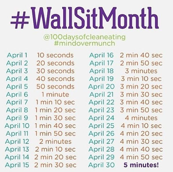 Wall Sit challenge . . . should I do this a month before or a month after the squat challenge?