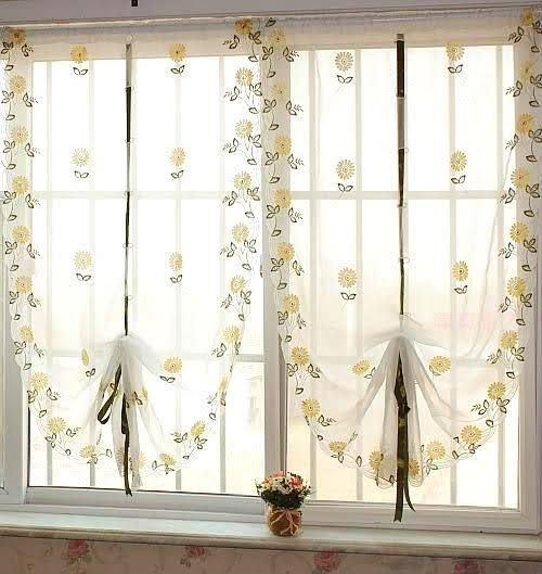Add elegance to your home with country style curtains for Ikea tende a vetro