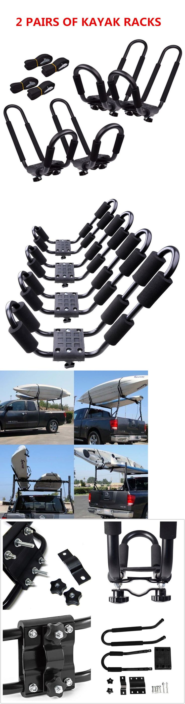 Best rack of the day car pictures - Accessories 87089 2 Pair Canoe Boat Kayak Roof Rack Car Suv Truck Top Mount Carrier