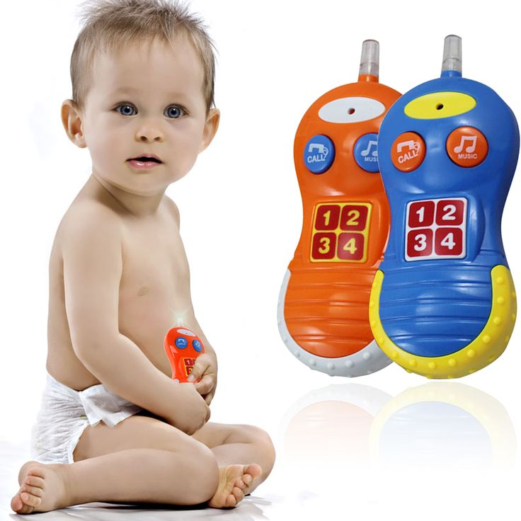Kids Plastic Learning Musical Sound Cell Phone Pop Baby Educational Toy Mobile Phones for Kids over 18 months