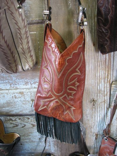 This is awesome. Why in tarnation did I not come up with this? So going to make with pink cowgirl boots.