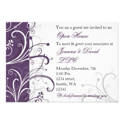 20 best Business Open House Invitations images on Pinterest - business dinner invitation sample