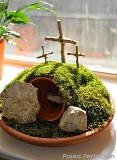 Posed Perfection: How to Make an Easter Garden