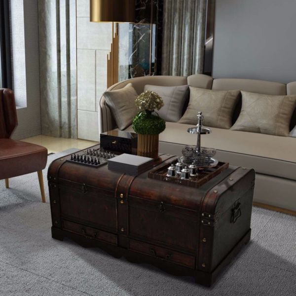 Find Great Deals For Large Wooden Coffee Table Treasury Pirate Chest Medieval Storage Trunk B Chest Coffee Table Coffee Table With Storage Coffee Table Vintage #storage #trunks #for #living #room