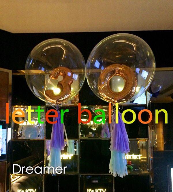 2 шт. = новый 24 inch прозрачный фольги воздушный шар 16 inch номер свадьба день рождения поставщик годовщина декор гелиевые шары купить на AliExpress