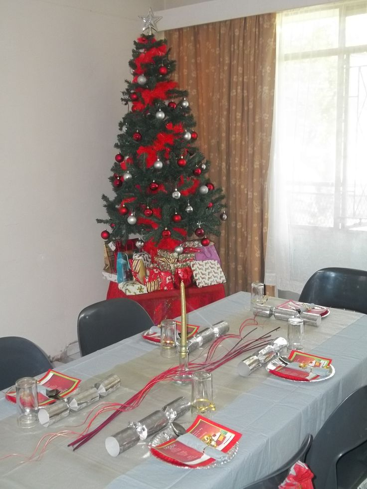 Our first Christmas tree and table