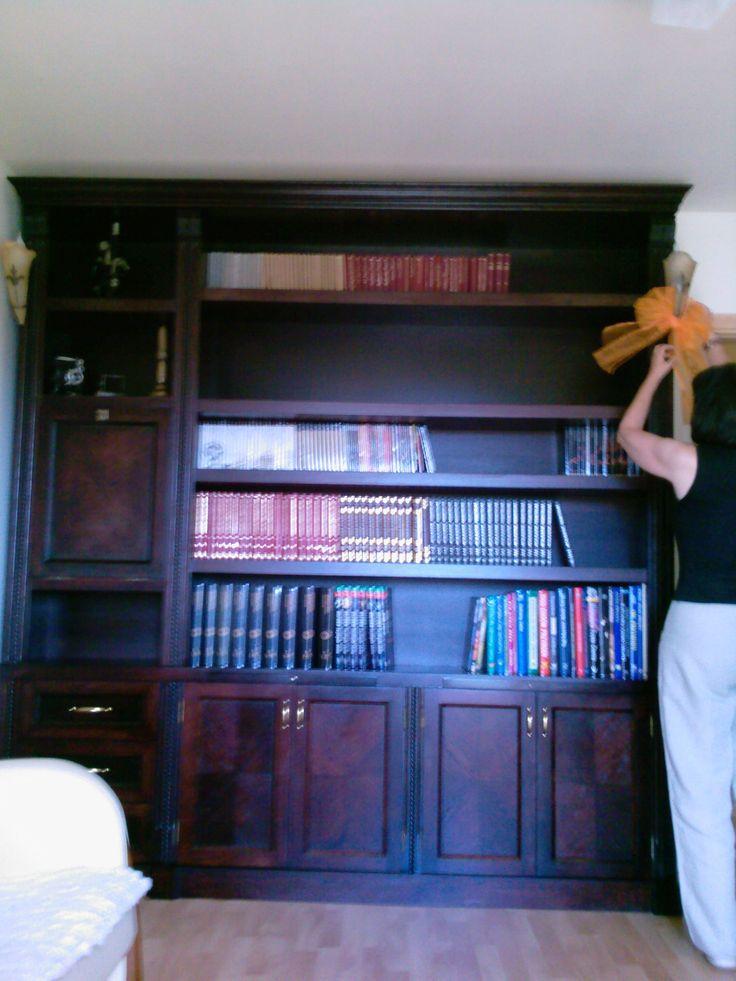 Biblioteka dębowa z półkami goliat-(metoda lotnicza)