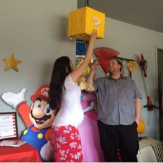 My Super Mario Baby Shower/gender reveal! - August 2015 Babies…