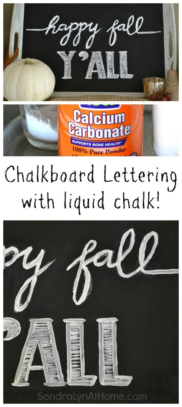 Make your own 'liquid chalk' for a more vibrant mark!  Chalkboard Lettering with Liquid Chalk -- SondraLynAtHome.com