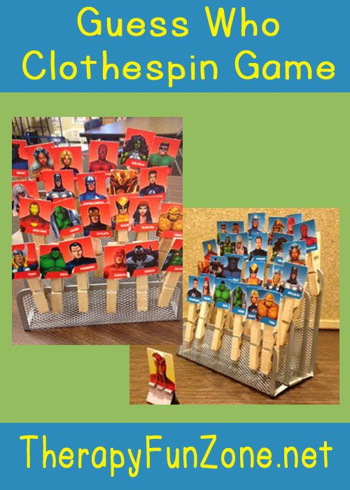 Guess Who Clothespin Game - Therapy Fun Zone