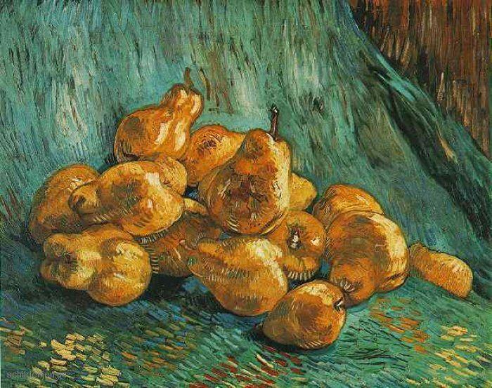 Schilderij Stilleven met peren