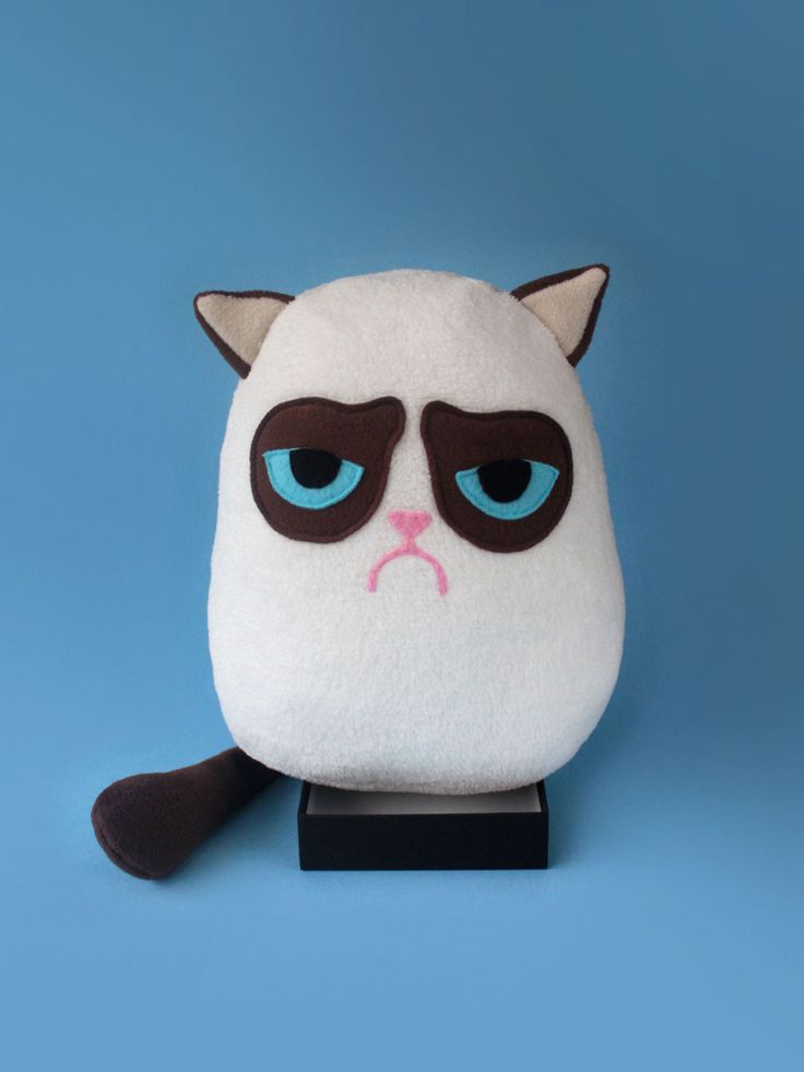 GRUMPY CAT plush toy. $44.00, via Etsy.