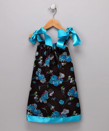 Take A Look At This Blue Amp Black Flower Dress Infant