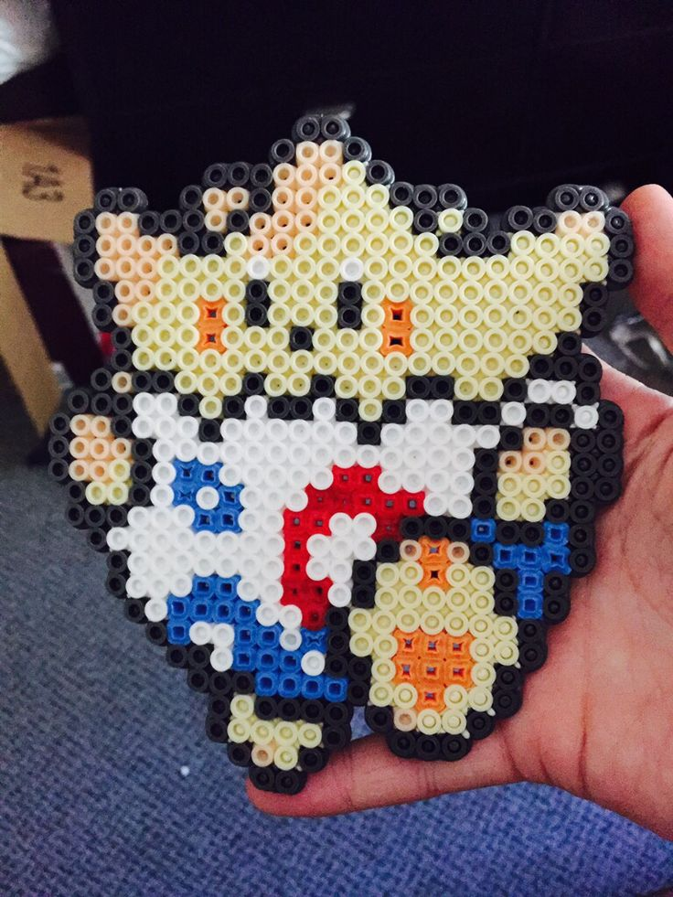 Togepi Pokemon perler beads Hama fuse beads