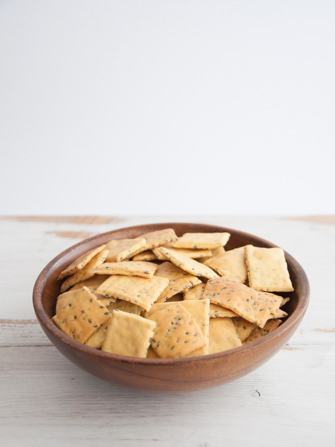 Recipe for quick & easy, vegan gluten-free Chickpea Crackers. They're perfect for parties or as a healthy snack. For these you'll need chickpea flour.