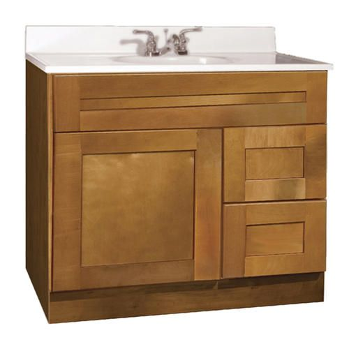 shenandoah series 36 w x 21 d vanity at menards