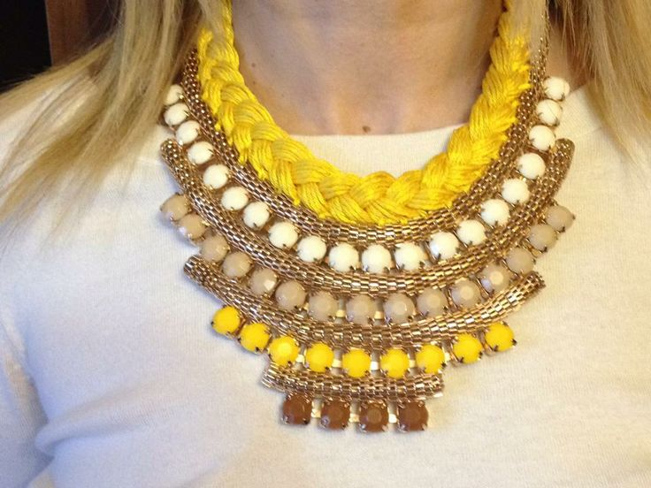 My new #statement #handmade #necklace #diy #fashion #style #handmadenecklace