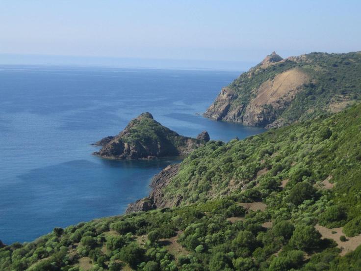 Driving towards Alghero (Sardinia)  Managu Bay,,,like a paradise