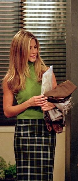 Turtlenecks are Rachel Green's second skin.
