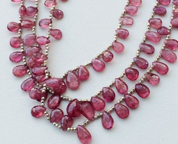 Pink Tourmaline Beads Pink Tourmaline Faceted by gemsforjewels