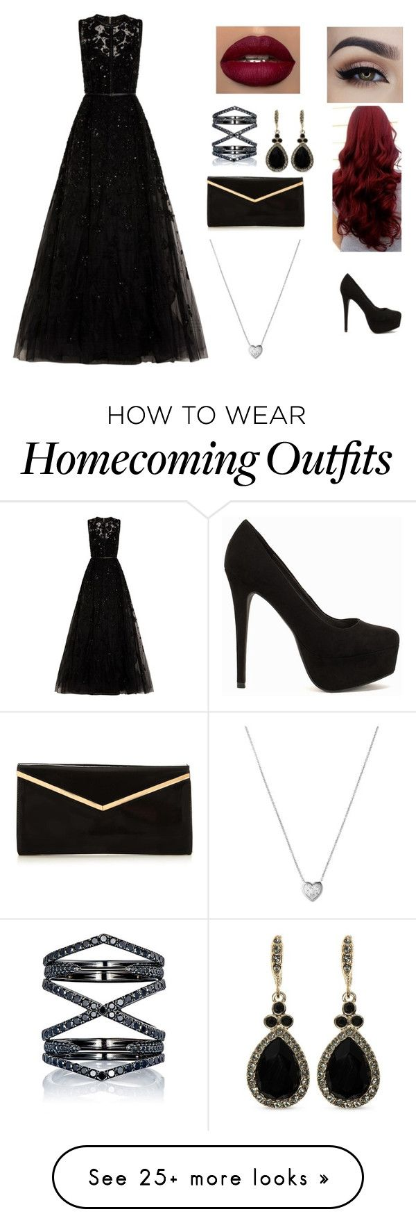 """""""Homecoming Queen"""" by xxxkilljoyxxx on Polyvore featuring Elie Saab, Nly Shoes, Eva Fehren, Givenchy and Links of London"""