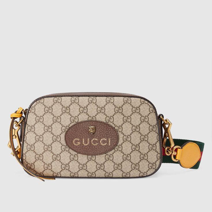 GUCCI GG Supreme messenger bag - GG Supreme. #gucci #bags #canvas #leather #lining #shoulder bags #linen #cotton #