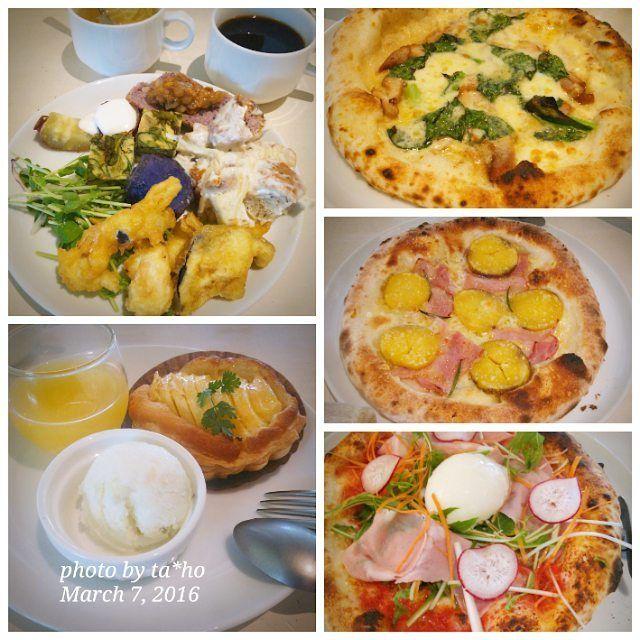 2016.3.7(月)   #ソッシュ へ#ランチ に行って来ました #前菜 飲み物スープは#バイキング 形式で 種類が多くて充実 ピザランチの#ピザ はピザ窯で焼かれていて とても美味しかったです デザートは3品を選べてこちらもボリュームがありました これで1800円税ならなかなかお得かも 予約必須   #外食 #お昼ご飯 #ロマンチック街道    by ta_ho_