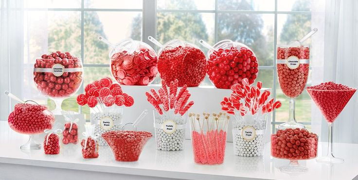 Red Candy Buffet Supplies - Red Candy & Containers - Party City