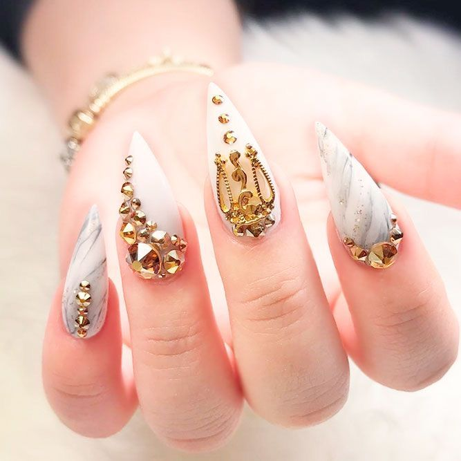 Pin By ★ 176 ˚Ƥ⍲ ℓ⍲˚ 176 ★ On ⤜nails⤛ In 2020 Stiletto Nails