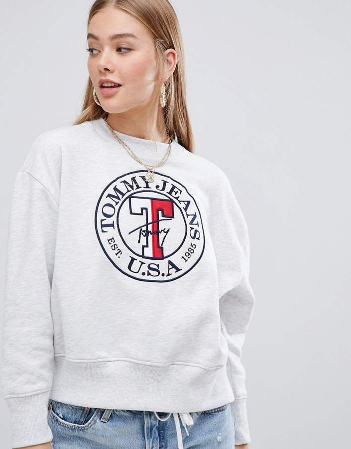 a28ba12656 Tommy Jeans circle sweatshirt | Tommy Hilfiger in 2019 | Sweatshirts ...