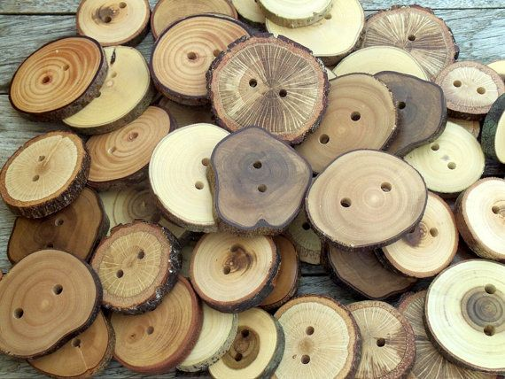 Wood Buttons  Branch Buttons  20 Buttons  7 by PebblesAndWoods