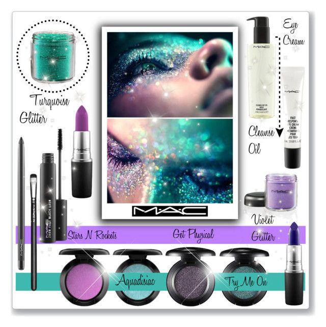 """MAC Glitter Eyeshadow!"" by bella-danielle-mia ❤ liked on Polyvore"