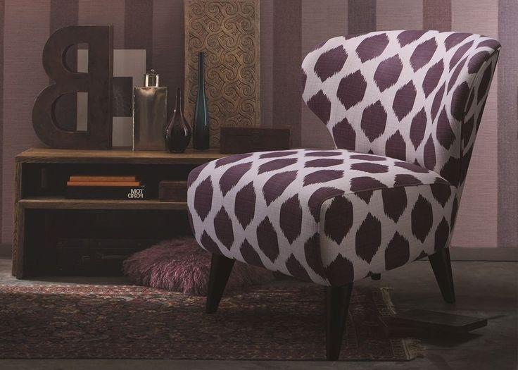 Sessel Memphis Designer Einzelsessel Violett 9461. Buy now at https://www.moebel-wohnbar.de/sessel-memphis-designer-einzelsessel-bezug-webstoff-violett-9461.html