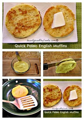Quick Paleo English Muffins | grain free, nut free and dairy free options with low carb version . beautyandthefoodie.com