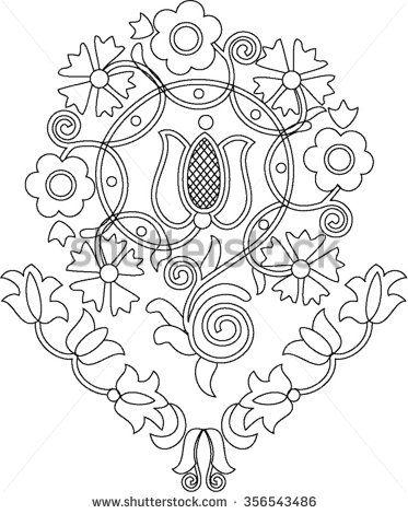Hungarian folk art - stock vector