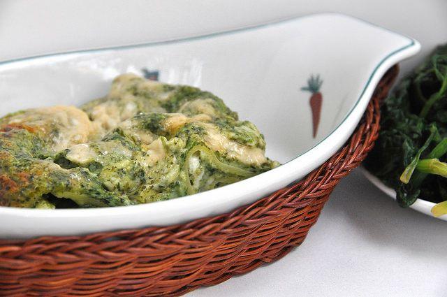 Ricette Bimby: Lasagne al Forno Bianche Bimby con Spinaci e Mozzarella