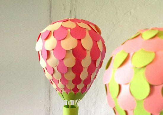объемные поделки воздушный шар