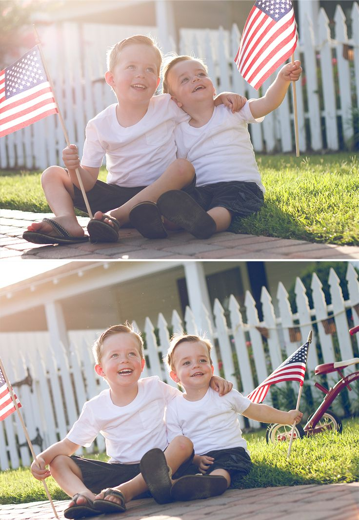 4th of july family images