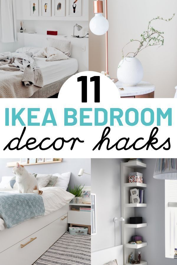 11 Genius Ikea Bedroom Hacks That Will Blow Your Mind Small Bedroom Decorating Ideas On A B Ikea Bedroom Furniture Ikea Bedroom Ikea Bed Frames