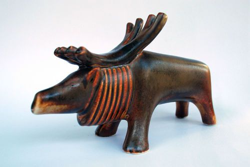 Rare Vintage Arabia Finland Art Pottery Reindeer Figure Taisto Kaasinen | eBay