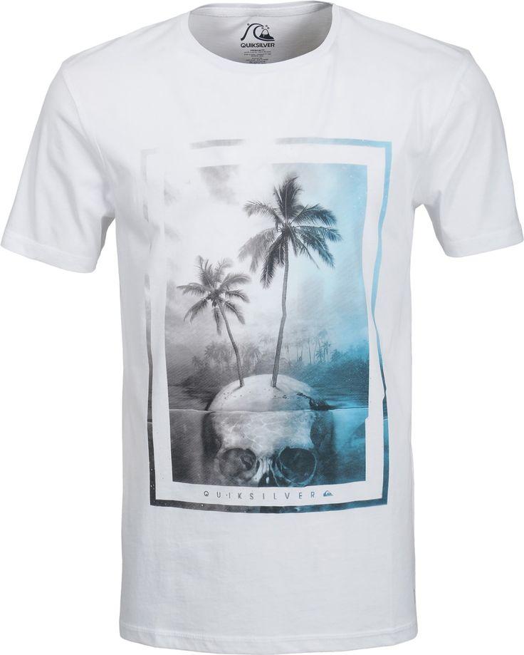 Quiksilver Garment Dyed Skull Island T-Shirt - white - Free Shipping