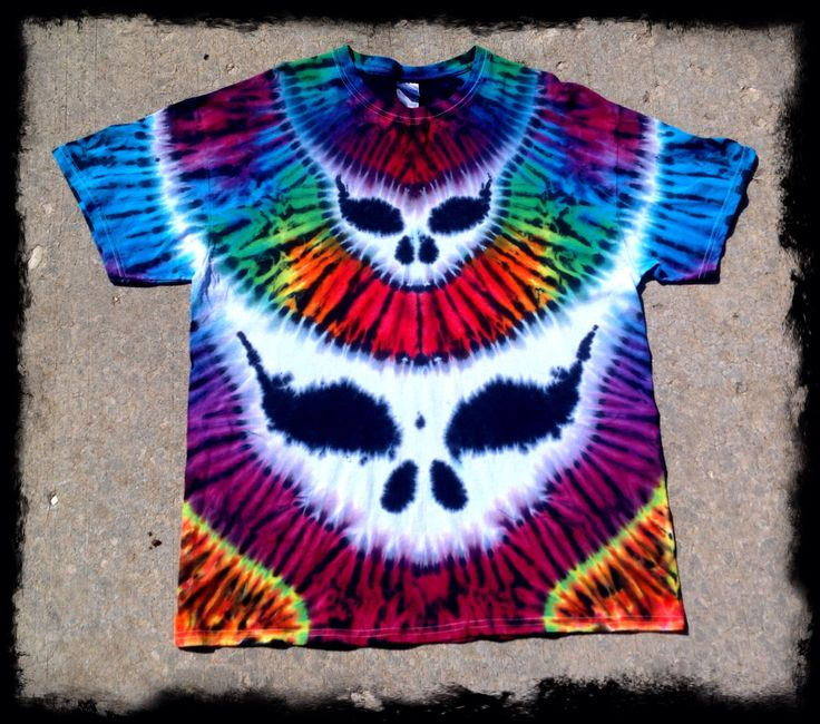 Grateful Dead Tie Dye T shirt - Grateful Dead Double Steal Your Face - Festy Clothes by GratefullyDyedDamen on Etsy https://www.etsy.com/listing/164892537/grateful-dead-tie-dye-t-shirt-grateful