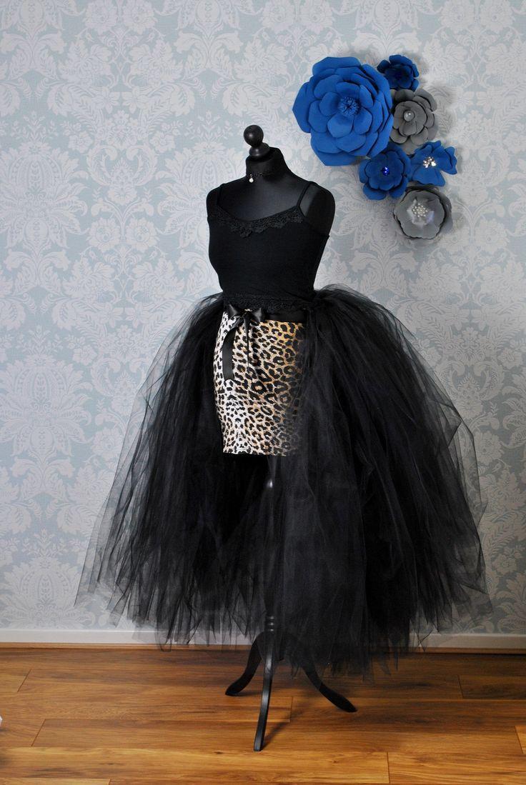 Black tulle overskirt detachable wedding skirt detachable