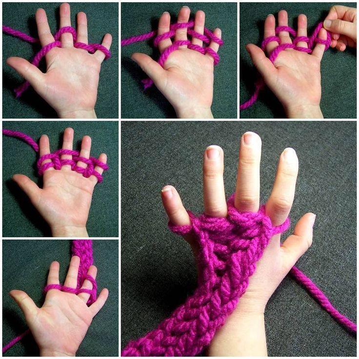 Tricoter avec les doigts! - Bricolages - Des bricolages géniaux à réaliser avec vos enfants - Trucs et Bricolages - Fallait y penser !